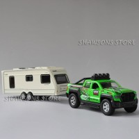 Diecast Car Model Toys 1:36 Ford F150 Pickup Truck Trailer With