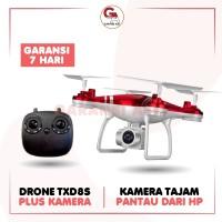 TXD 8S DRONE CAMERA DRONE QUADCOPTER DRONE CAMERA ORIGINAL IMPORT MURA - Putih, 1 SET BAWAAN