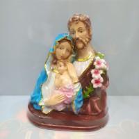 Patung Keluarga Kudus 1/2 Badan / keluarga kudus