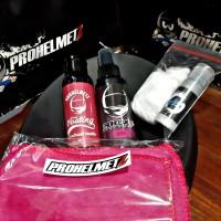 paket perawatan helm sealent doff,parfum,polish.microfiber