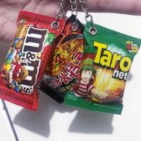 gantungan kunci miniatur snack paket isi 25