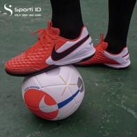 Sepatu Futsal Nike Tiempo 8 Academy IC - Laser Crimson Original