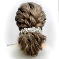 Bride Wedding Hair Accessories AR028 / Headpiece / Aksesoris crystal