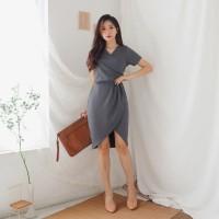 Dress Wanita Cewek Lengan Pendek V134 - Godiva Dress