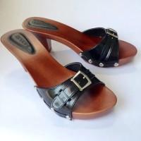 sandal wanita/high heels/sepatu sandal/arunni/kkp gesper putih