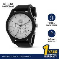 Jam Tangan Pria Alba ACTIVE Quartz Rubber AT3G23 Original