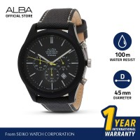 Jam Tangan pria Alba ACTIVE Quartz Kanvas AT3G21 Original