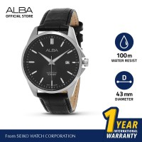 Jam Tangan Pria Alba ACTIVE Quartz Leather AS9J75X1 Original