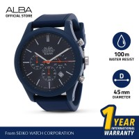 Jam Tangan Pria Alba ACTIVE Quartz Rubber AT3G25 Original