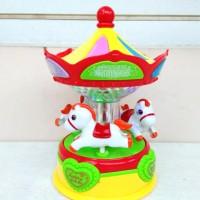Mainan Baby Wonderland Merry Go Round Music Drum Komedi Putar