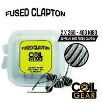AUTHENTIC COIL GEAR PREBUILT FUSED CLAPTON Ni80 2x26G + 40G 4pcs