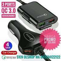 Car Charger Portable 4 ports Quickcharge Qualcomm 3.0
