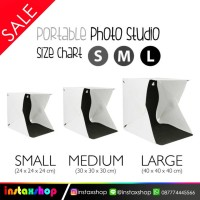Mini Studio Foto With LED Size S,M,L - Size S