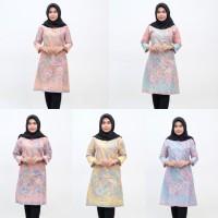batik tunik warna soft - atasan batik wanita
