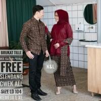baju couple batik naila - baju couple pesta - baju sarimbit batik