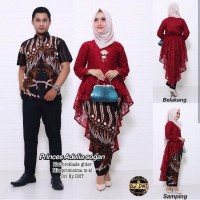 couple batik princes adelia sogan - baju couple batik - baju pesta