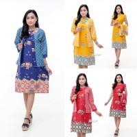 dress batik - gaun batik bolero - baju batik wanita