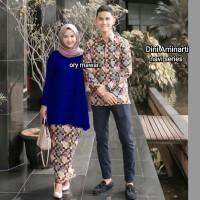 baju couple batik dini aminarti - baju couple batik - baju pesta