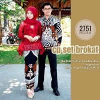 couple batik 2571 - baju couple batik