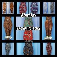 Jumbo Rok lilit wrap skirt rok serut batik Big Size gratis ring gesper