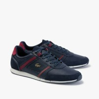 Lacoste Mens Menerva Leather Synthetic Sneaker Pria ORIGINAL