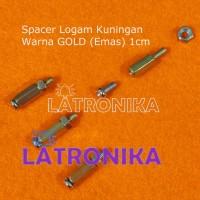 Spacer 10mm 1cm Kaki PCB Logam Kuningan High Grade 10 mm 1 cm