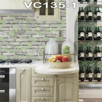 Wallpaper Dinding Batu Bata Daun VICTORY VC135-1 - 135-4