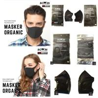 Masker BoWin Type Organic Dark Grey BWNORGANIC01 / Masker