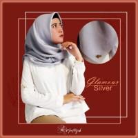 Hijab Voal Glamour Warna Silver Premium