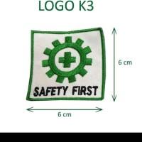 Logo k3 emblem bordir safety first
