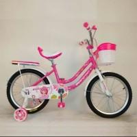 Sepeda anak perempuan mini 18 evergreen daisy pink sepedamurah78