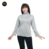 Rx Fashion Baju Kaos Wanita Mangset Sabyan Polos / Long Sleeve