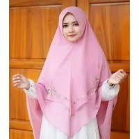 KHIMAR PREMIUM - Hijab Ceruti LV Bordir Jilbab Syari ORI JNS PET ANTEM
