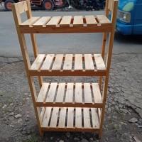 rak multi fungsi kayu jati belanda