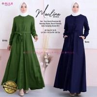 MAULINA DRESS CANTIK / SIZE JUMBO LD 105-110 PB 140 / Ori by Alila