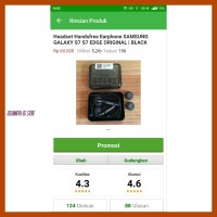 Hot Headset Earphone Handsfree Samsung Galaxy S7 S6 S 7 S 6 Edge