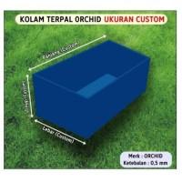 Kolam Terpal Kotak PVC Orchid Terpaulin Ukuran Custom Harga per Meter