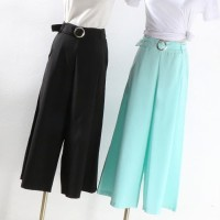 Celana Kulot Panjang Hijau Tosca Fashion Wanita Korea