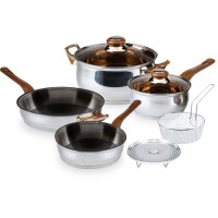 Oxone Cookware Set 4 + 2 Pcs OX911 / Stainless Steel / Panci Set