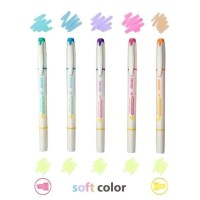 HIGHLIGHTER / PENANDA JOYKO HL-46 / 1 SET 5 PCS / 6 WARNA