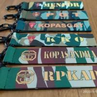 Gantungan Kunci / KeyChain unik Logo TNI Polri bisa custom