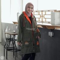 Terpopuler ! VENDULUM OLIVE GREEN   Jaket Hijab   Jaket Muslimah