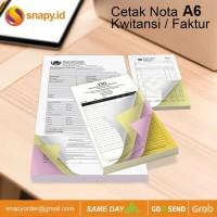 CETAK NOTA / KUITANSI / FAKTUR A6