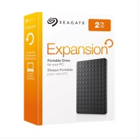 Seagate Expansion Hard Disk External 2 TB - Hitam