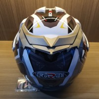 Helm Half Face Dewasa Double Visor Anti Pecah SNI Speed Force White