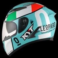Helm KYT Vendetta Motif Leopard Blue Fullface Biru Vendeta