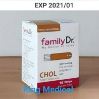 FamilyDr Kolesterol isi 10 test strip Family Dr Cholesterol