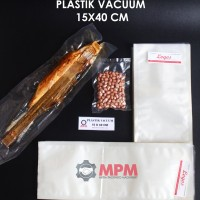 Plastik Vacuum 15 X 40 Cm Vacum Bag, Plastic Vakum Mesin Sealer