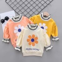 Promo Sweater Kaos Casual Motif Print Bunga untuk Bayi Perempuan