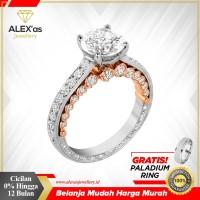 cincin berlian Classic Premium natural diamond emas 18k AXSVIV1199